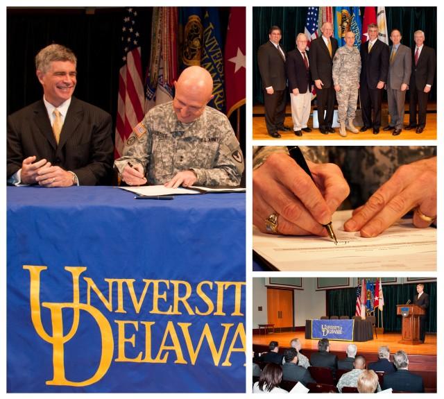 University of Delaware, RDECOM formalize partnership