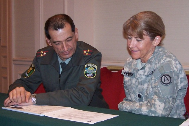 Third Army/U.S. Army Central tackles H1N1 during information exchange with Uzbekistan