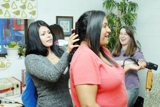 Warrior Country spouses learn beauty salon secrets