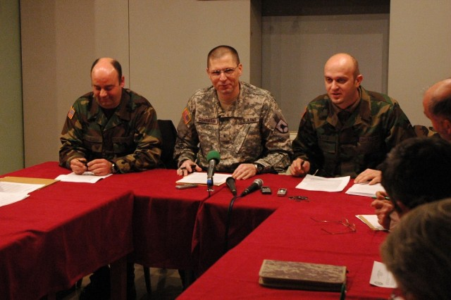 "FERIZAJ/UROSEVAC and GJILAN/GNJILANE, Kosovo - Brig. Gen. Al Dohrmann, commander of KFOR's Multi-National Task Force-East, on Tuesday, told local press clubs in Ferizaj/Urosevac and Gjilan/Gnjilane that the improved security situation in the area is directly related to positive changes that the people and institution in Kosovo are making every day. Dohrmann, Bismarck, N.D., a member of the North Dakota Army National Guard, cited recent municipal elections in Kosovo, and the fact there was no need for KFOR assistance of any kind, as growing proof that Kosovo is headed in the right direction. The elections were successfully run by institutions in Kosovo and the post-election issues have been handled in a democratic manner, he said, all signs that citizens in Kosovo are embracing change. ""The positive change I am talking about is one that takes advantage of opportunities in front of us to build the brighter future I've talked about sine I arrived in November,"" Dohrmann said. The general's comments came during his second Press Coffee event with local media in the two largest municipalities in KFOR's East Sector. The Press Coffees are meant to be informal gathering for the media to discuss important issues in the MNTF-E area of operation. Dohrmann leads the 141st Maneuver Enhancement Brigade, based in Fargo, N.D. The 141st is the headquarters unit for all MNTF-E forces in Kosovo, including troops from the U.S., Greece, Poland, Ukraine, Romania and Armenia. Dohrmann said positive changes taking place across Kosovo have allowed KFOR to reshape and adapt to the improving security situation. One visible sign of this transition will take place Feb. 1, when all KFOR Multi-National Task Forces will be renamed Multi-National Battle Groups. ""This is not only a change in name but a change in the way we will conduct operation,"" Dohrmann said. Under the new structure, he said, Multi-National Battle Group-East (MNBG-E) will adjust the number of patrols its Soldiers conduct in urban areas, where the Kosovo Police and EULEX (European Rule of Law in Kosovo) provide security. ""This will increase our capability to respond quickly and decisively anywhere in Kosovo with more agile and flexible forces,"" he said. Dohrmann also highlighted the potential being demonstrated by the Kosovo Security Force (KSF) as another positive change taking place in Kosovo. He said emergency operations being conducted by the KSF in flood-stricken Northern Albania shows that it is an effective pillar of the security sector. Dohrmann said one thing that will not change for MNBG-E is its primary mission: to maintain a safe and secure environment and freedom of movement as a third responder behind the KP and EULEX. ""I think we would all agree that there is a lot of positive change affecting everyone in Kosovo,"" he said. ""Let's work together and continue this movement."" -- Multi-National Task Force - East is a U.S. led task force commanded by Brig. Gen. Al Dohrmann. This task force is comprised of nearly 2,200 Soldiers, including Task Force Hellas and Task Force POL/UKR (Polish/Ukraine). The charter mission of MNTF-E is maintaining a Safe and Secure Environment and providing Freedom of Movement for the people in Kosovo. Please contact the MNTF-E Public Affairs office for media engagements or to follow-up on this information. --30--"