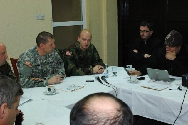 Brig. Gen. Al Dohrmann holds Press Coffees in Kosovo Jan. 26, 2010