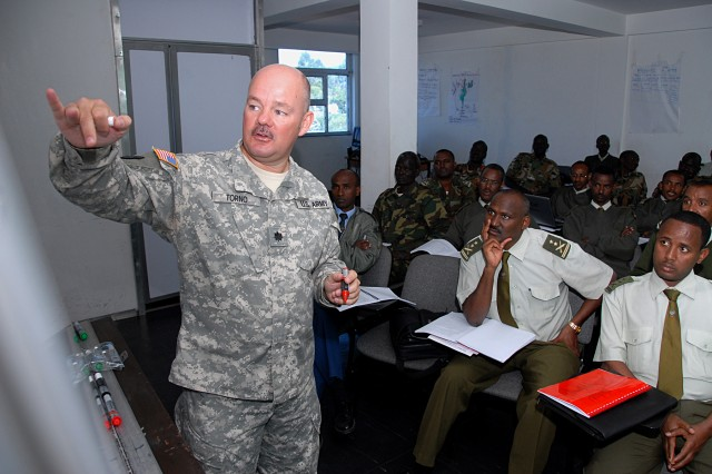 Lt. Col. Randy Torno teaches and mentors senior Ethiopian military officers  at the Ethiopian Defense Command and Staff College-a role he calls the most rewarding job he's ever done.