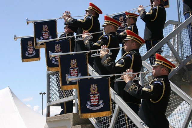 The Herald Trumpets has been featured with orchestras from around the world (e.g., the National Symphony Orchestra, the New York Philharmonic, the Hollywood Bowl Orchestra, the Istanbul State Symphony Orchestra, the Boston Pops, the Cincinnati Pops). U.S. Army photograph