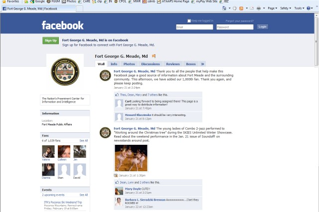 Fort Meade\'s Facebook page fills with fans