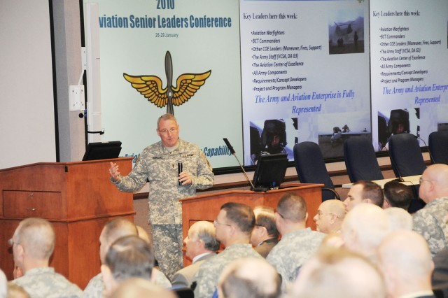 Senior leaders navigate state of Aviation Branch during conference at Fort Rucker