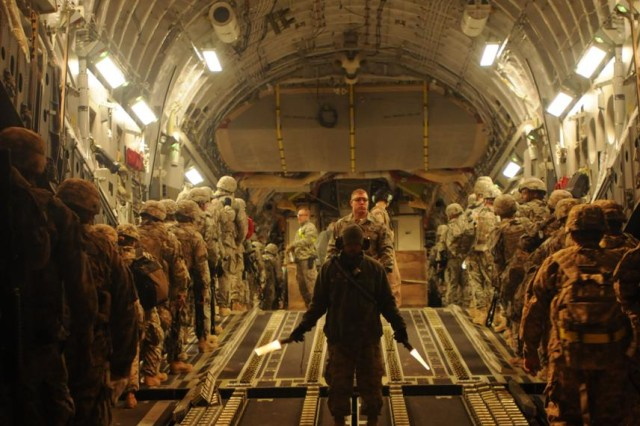 More than 3,000 Soldiers moved in first fixed-wing redeployment out of Taji