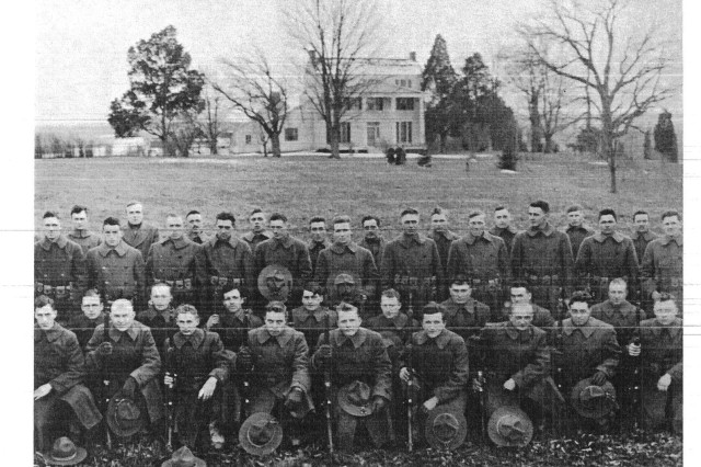 304th Engineers are seen at Mount Air in 1918.