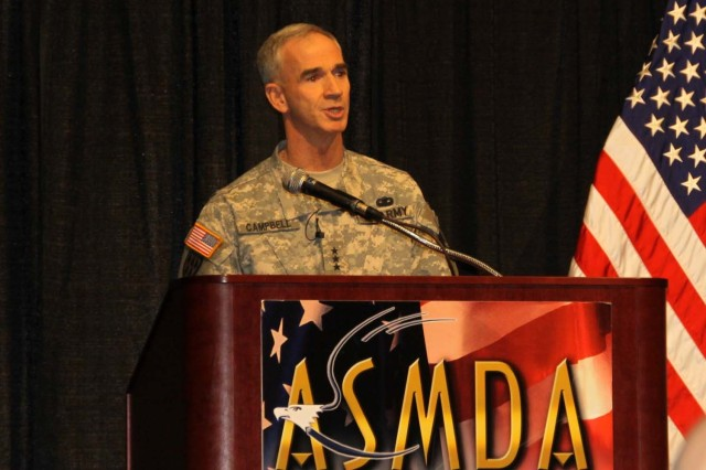 Lieutenant General Kevin T. Campbell, commanding general, U.S. Army Space and Missile Defense Command/Army Forces Strategic Command, was the keynote speaker at the annual membership and awards luncheon of the Air, Space, and Missile Defense Association (ASMDA) on Jan. 29.