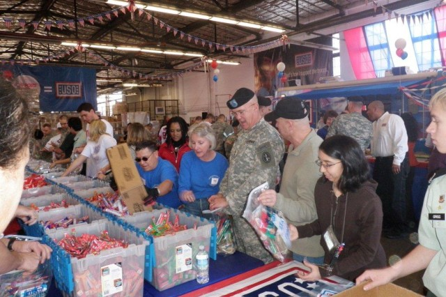 Packages bound for troops overseas
