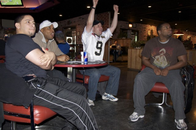 Super Bowl XLIV plays in Gatway Club on Casey