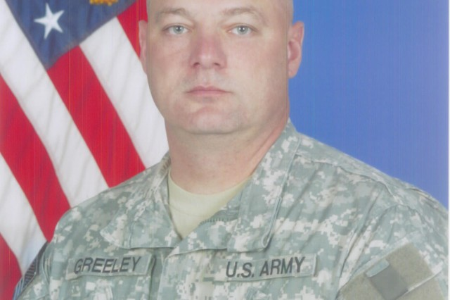 Master Sgt. Robert Greeley, noncommissioned officer-in-charge, 2nd Battalion, 401st Army Field Support Brigade