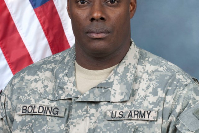 Sgt. 1st Class Lee A. Bolding, noncommissioned officer-in-charge, 1st Battalion, 401st Army Field Support Brigade