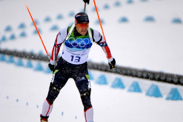 Army Guardsman Posts Best U.S. Finish in Olympic Biathlon