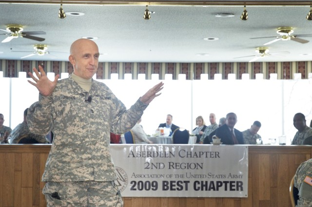 Justice speaks to AUSA gathering