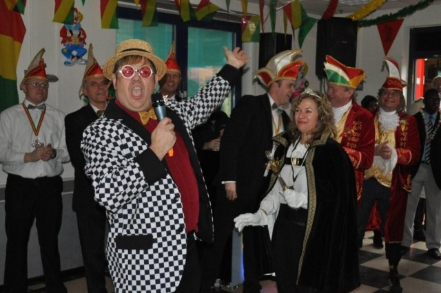 """Elton John"" entertained guests during USAG Schinnen's Carnival celebration, Feb. 12."