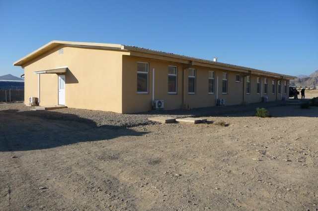 A new office and barracks building for the fire department at Camp Parsa was designed to suit Afghan tastes and practices.