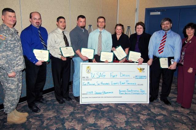 Fort Drum officials recognize contributions of Lean Six Sigma program, participants