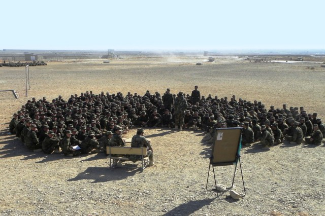 The number of Afghan troops at Camp Parsa is projected to continue increasing by 10 percent a month.