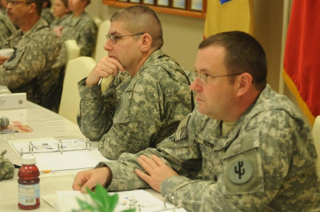 Provider command staff briefs incoming replacements