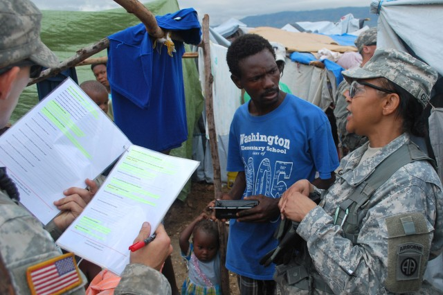 U.S. Special Operations civil affairs teams help displaced citizens in