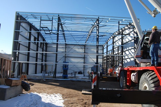 Siding is currently being placed on the Biotreatment Electrical Building.