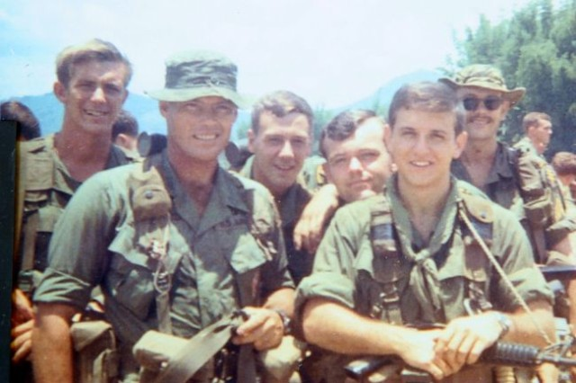 Then-Sgt. 1st Class Robert L. Howard, front left, is a Medal of Honor recipient and one of America's most decorated Soldiers. Howard retired from the Army in 1992 as a colonel, after having served 36 years on active duty.  He died Dec. 23, 2009, and was buried Feb. 22, in Arlington National Cemetery. (Photo used with permission by rlhtribute.com)