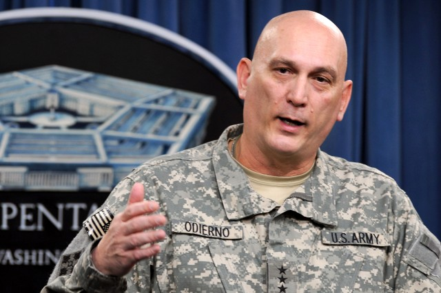 Gen. Ray Odierno talks to the press about the current situation in Iraq