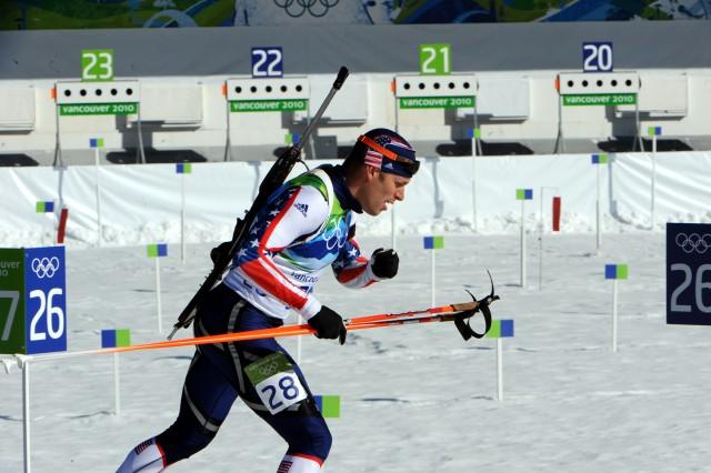 Teela finishes 29th in Olympic biathlon 15K mass start