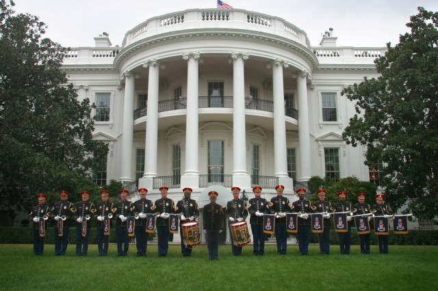 The Army Herald Trumpets is the official fanfare ensemble for the President of the United States. (U.S. Army photo)