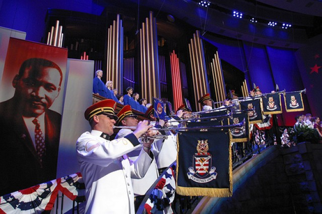 "A performing element of The U.S. Army Band ""Pershing's Own"" in Washington, D.C., The Herald Trumpets has performed for countless events of national and international significance. (U.S. Army photo)"