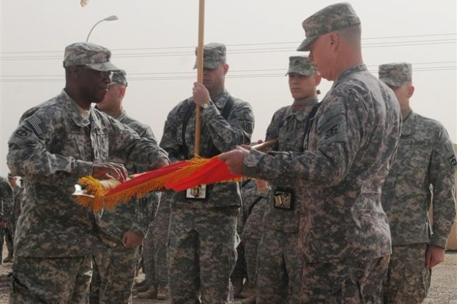 90th Sustainment Brigade cases colors, heads home