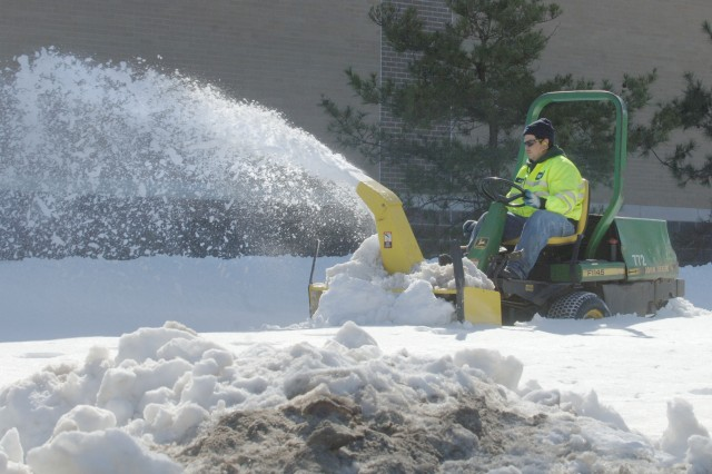 Roads and Grounds crew battles back against snowstorm