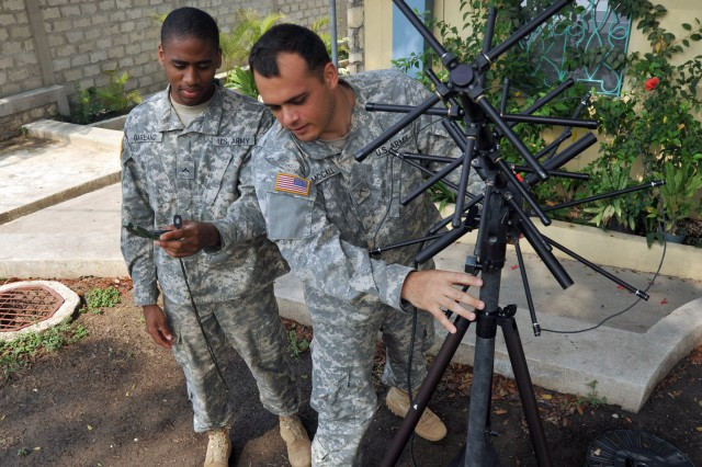 Army communicators play critical role in supporting civil affairs operations in Haiti.