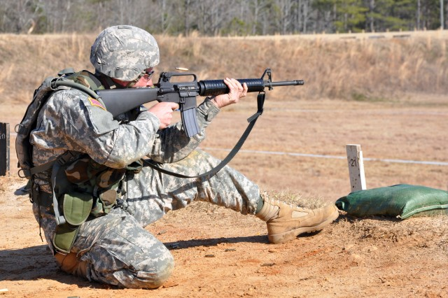 FORT BENNING, Ga.--Soldiers compete in a rifle match consisting of a variety of distances and shooting positions, Feb. 23 on McAndrews Range during the 2010 All-Army Small Arms Championships.