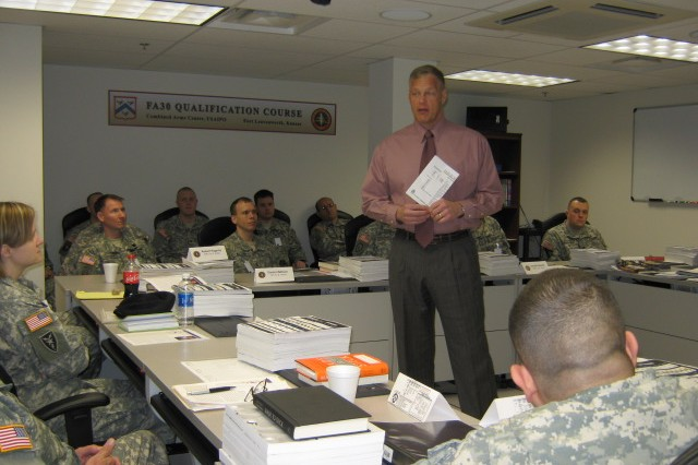 FA 30 students officially begin qualification course at Fort Leavenworth