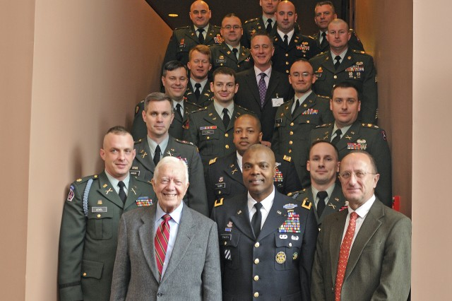 Third Army visits Carter Center