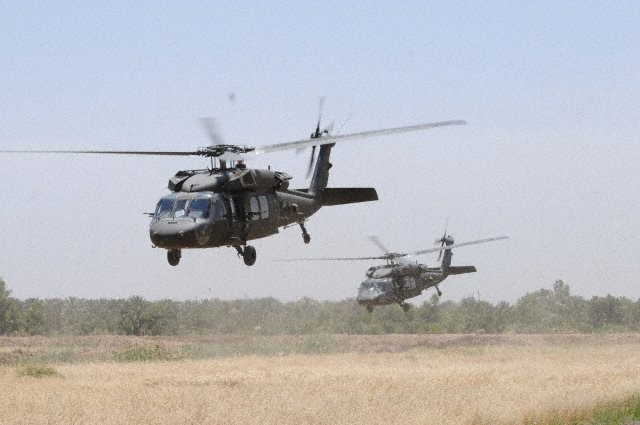 Black Hawks lift off