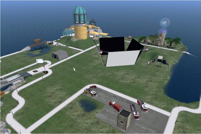 Welcome to VADER Island, a virtual world where developers submitted entries to the competition.