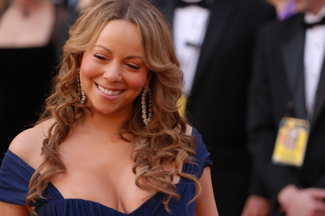 """Always a fan favorite, Mariah Carey reacts to the media during red carpet interviews at the 82nd Academy Awards March 7, 2010 in Hollywood. She plays a social worker in the best picture-nominated """"Precious: Based on the Novel 'Push' by"""