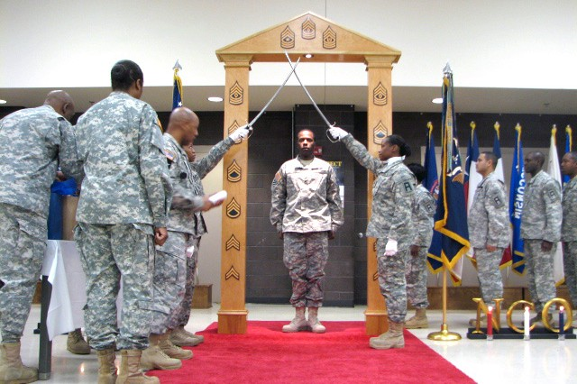 NCO Corps officially welcomes nine into fold
