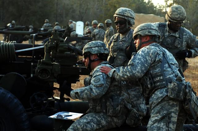 New York Artillerymen Send Rounds Downrange at Blanding