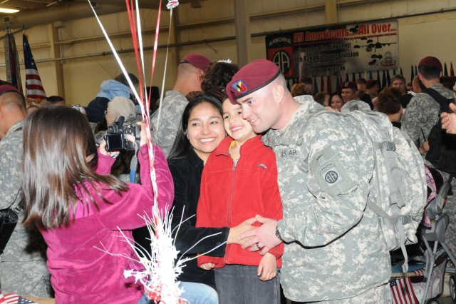82nd Airborne Division Soldiers return from Afghanistan