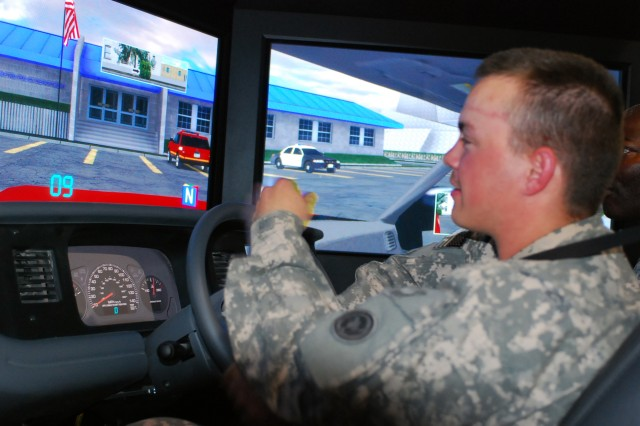 Driving simulators prepare troops for real thing