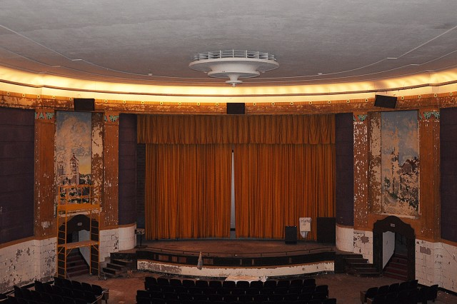 The theatre's curtain will open again, but live shows will grace the now-empty stage.