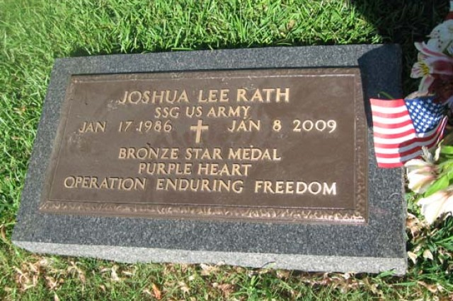 Staff Sgt. Joshua Rath was buried in East Lawrence Memorial Gardens.