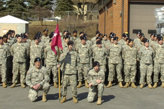 ALTOONA, Pa. - The 298th Support Maintenance Company stands outside of the U.S. Army Reserve Center here March 11 as they prepare for a year-long deployment in Iraq. While roughly half the Soldiers reside locally, the 298th consists of nearly 200 Army Reserve Soldiers from 15 other states. (US Army Photo by Spc. Michael T. Crawford, 316th ESC Public Affairs Office)
