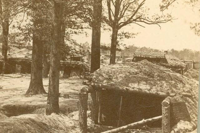 Fort Steadman: Interior of Federal Fort Stedman, east of Petersburg, Virginia (MOLLUS, USAMHI)