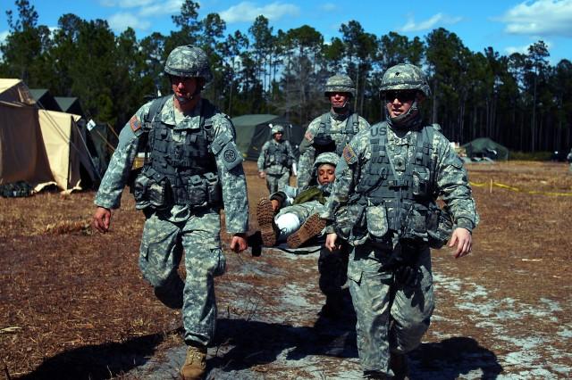 New York National Guard Artillery Medics Practice for Mass Casualties