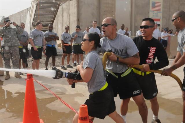 Service members participate in JBB Fire Muster