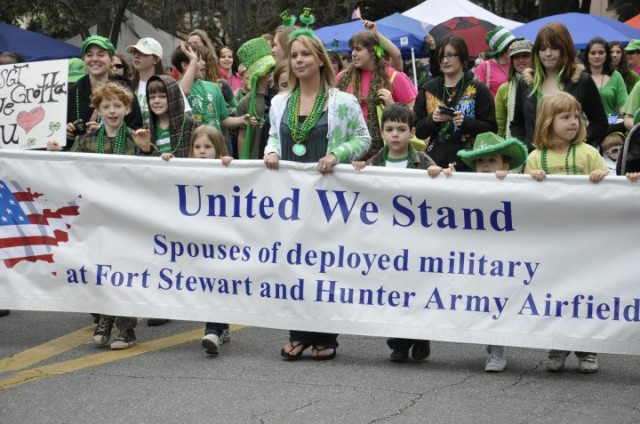 3rd ID Families St Patricks Day Parade